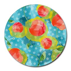Red Cherries Round Mousepads