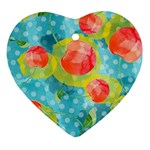 Red Cherries Ornament (Heart)  Front