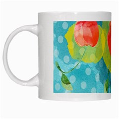 Red Cherries White Mugs