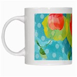 Red Cherries White Mugs Left