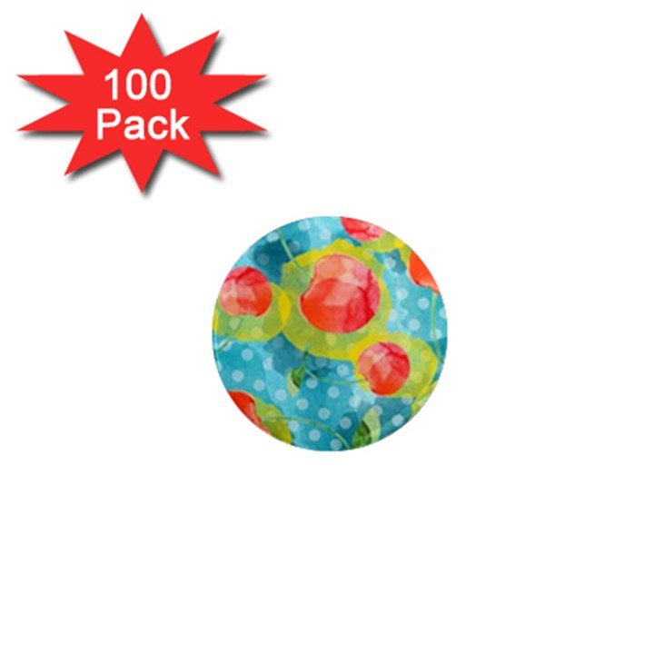 Red Cherries 1  Mini Magnets (100 pack)