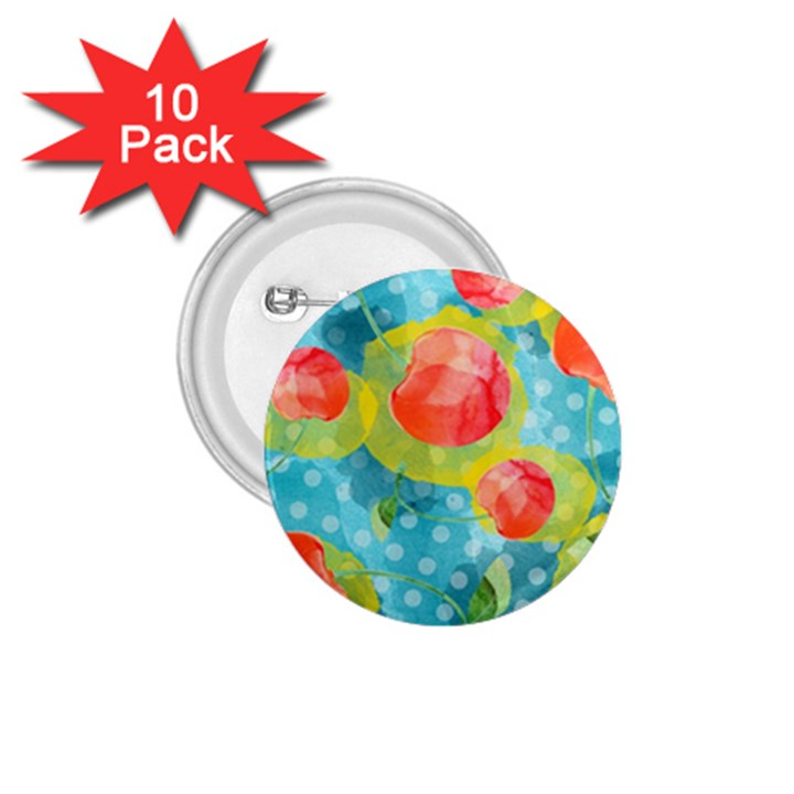 Red Cherries 1.75  Buttons (10 pack)