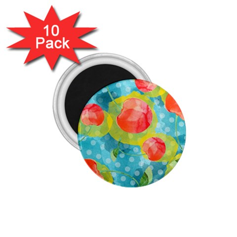Red Cherries 1.75  Magnets (10 pack)