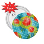Red Cherries 2.25  Buttons (10 pack)  Front