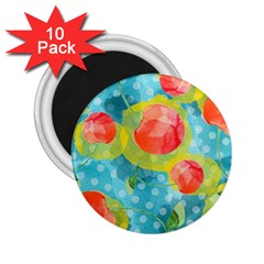 Red Cherries 2 25  Magnets (10 Pack)