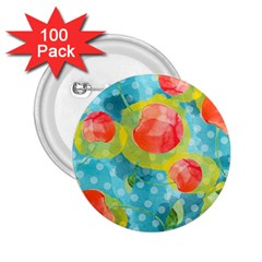 Red Cherries 2.25  Buttons (100 pack)