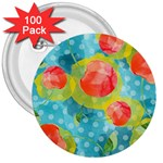 Red Cherries 3  Buttons (100 pack)  Front