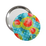 Red Cherries 2.25  Handbag Mirrors Front