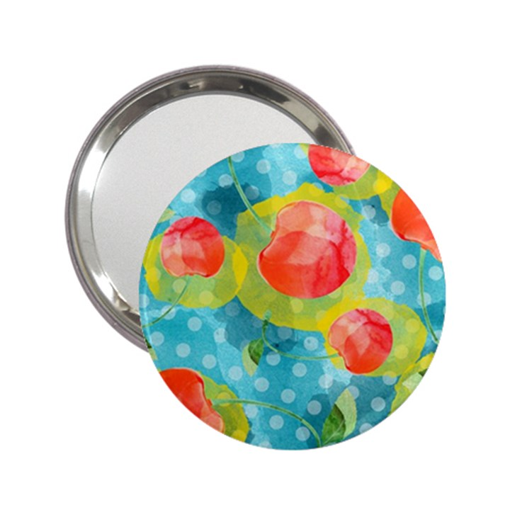 Red Cherries 2.25  Handbag Mirrors