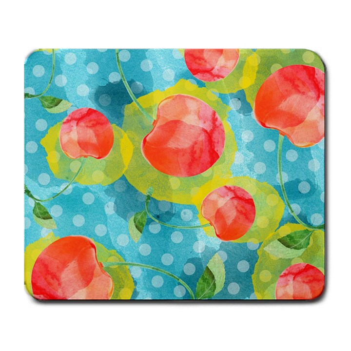 Red Cherries Large Mousepads