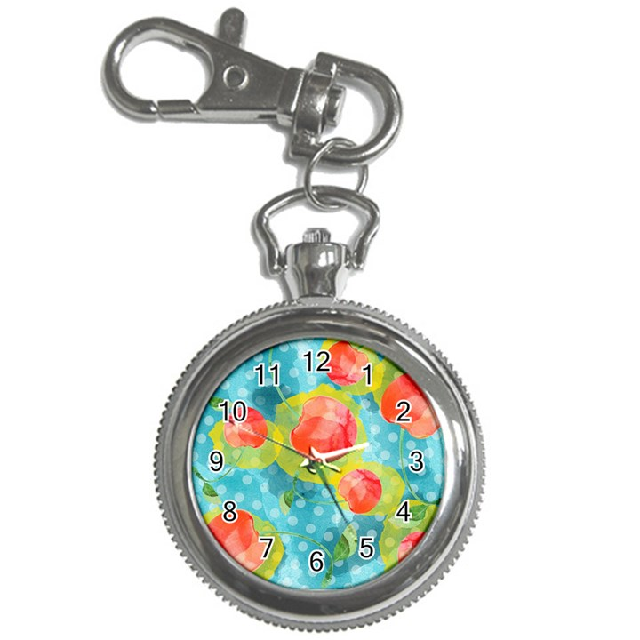 Red Cherries Key Chain Watches