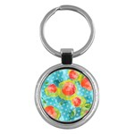 Red Cherries Key Chains (Round)  Front