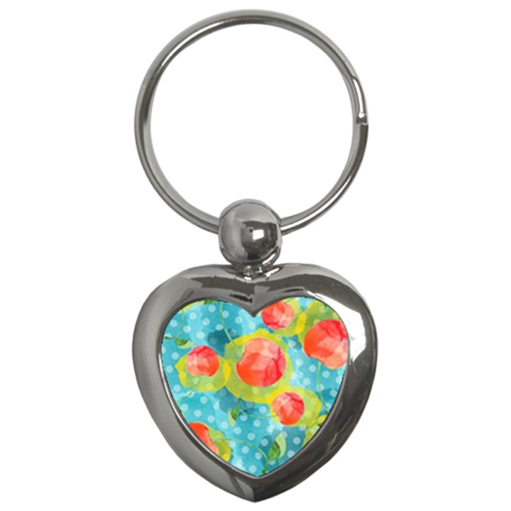 Red Cherries Key Chains (Heart)