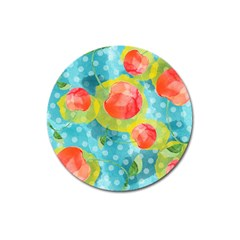 Red Cherries Magnet 3  (round)