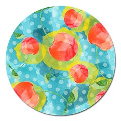 Red Cherries Magnet 5  (Round)