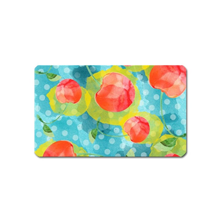 Red Cherries Magnet (Name Card)