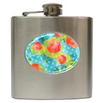Red Cherries Hip Flask (6 oz) Front