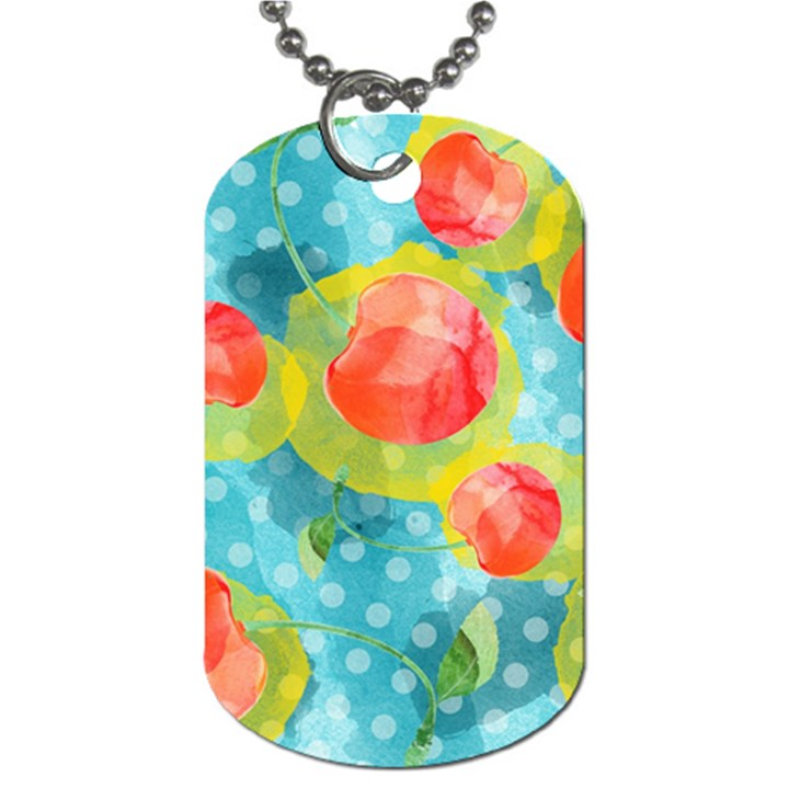 Red Cherries Dog Tag (Two Sides)