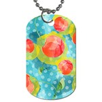 Red Cherries Dog Tag (Two Sides) Back