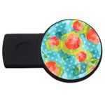 Red Cherries USB Flash Drive Round (2 GB)  Front