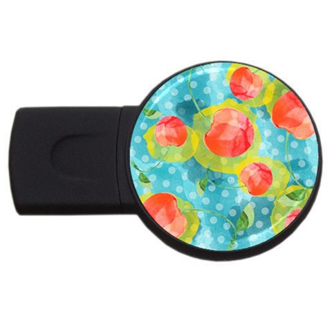 Red Cherries USB Flash Drive Round (1 GB)