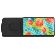 Red Cherries USB Flash Drive Rectangular (2 GB)