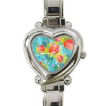 Red Cherries Heart Italian Charm Watch Front