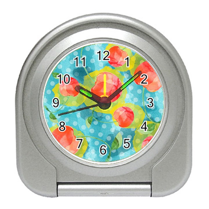 Red Cherries Travel Alarm Clocks