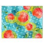 Red Cherries Rectangular Jigsaw Puzzl Front