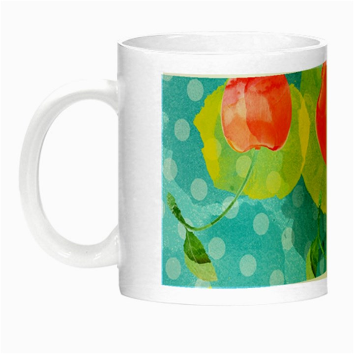 Red Cherries Night Luminous Mugs