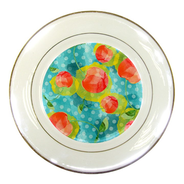 Red Cherries Porcelain Plates