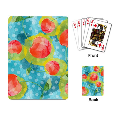 Red Cherries Playing Card