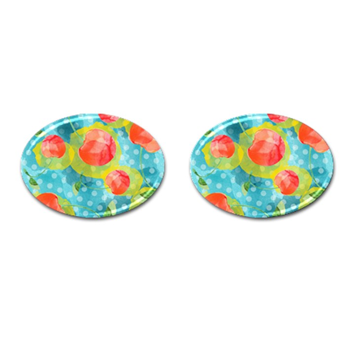 Red Cherries Cufflinks (Oval)