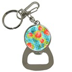 Red Cherries Bottle Opener Key Chains Front