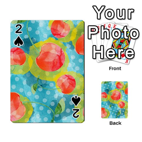 Red Cherries Playing Cards 54 Designs