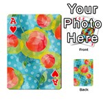 Red Cherries Playing Cards 54 Designs  Front - HeartA