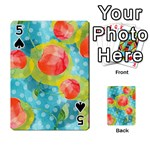 Red Cherries Playing Cards 54 Designs  Front - Spade5