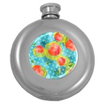 Red Cherries Round Hip Flask (5 oz) Front
