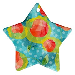 Red Cherries Star Ornament (two Sides)