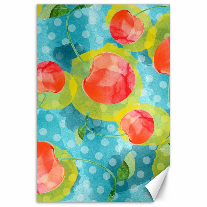Red Cherries Canvas 24  x 36