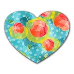 Red Cherries Heart Mousepads Front
