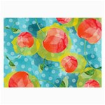 Red Cherries Large Glasses Cloth (2-Side) Front