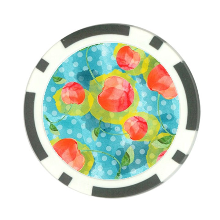 Red Cherries Poker Chip Card Guards