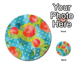 Red Cherries Multi Purpose Cards (round)