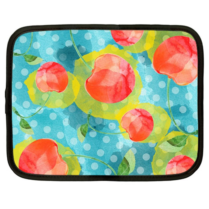 Red Cherries Netbook Case (Large)