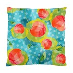 Red Cherries Standard Cushion Case (Two Sides) Back