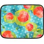 Red Cherries Fleece Blanket (Mini) 35 x27 Blanket