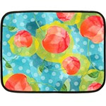 Red Cherries Double Sided Fleece Blanket (Mini)  35 x27 Blanket Front