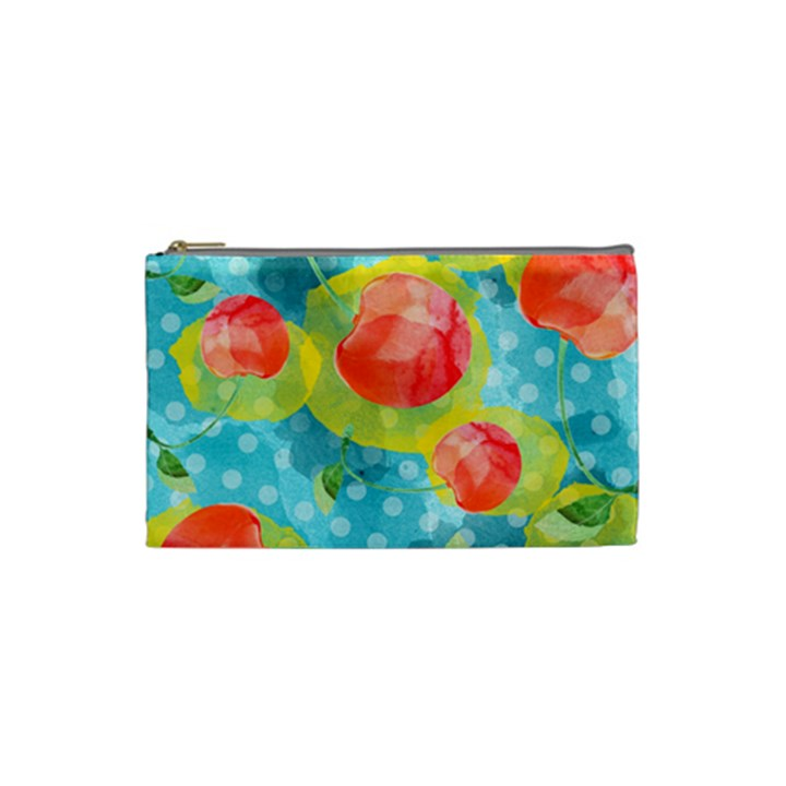 Red Cherries Cosmetic Bag (Small)