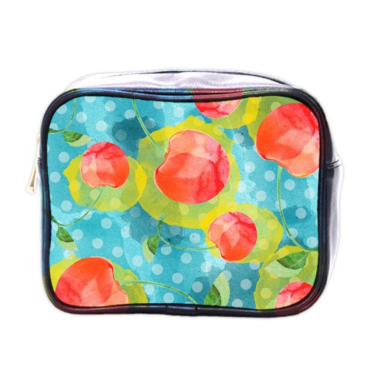 Red Cherries Mini Toiletries Bags